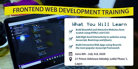 Frontend Web Developer Training tickets