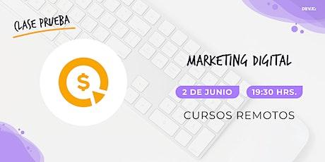 Clase Prueba Marketing Digital DEV.F entradas
