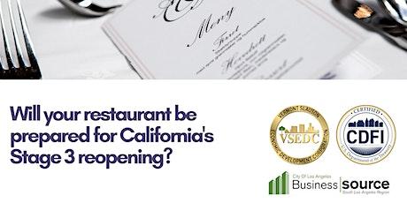 Webinar - Restaurant Survivial: Strategies For Stage 3 Opening tickets