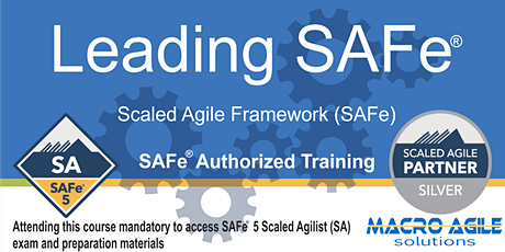 Leading SAFe®  5.0 (SA)  Training- Virtual Instructor Led tickets