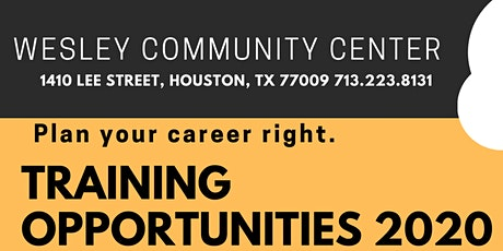 Wesley Community Center  2020 Training Opportunities tickets