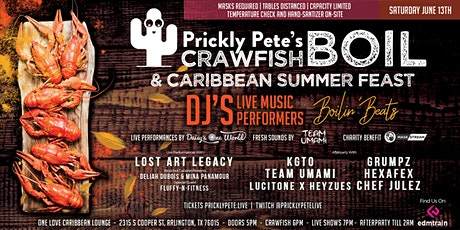 Prickly Pete's Crawfish Boil & Caribbean Summer Feast tickets