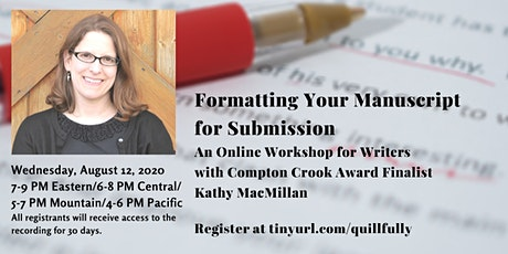 Formatting Your Manuscript for Submission tickets