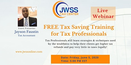 Tax Saving Training for Tax Pros tickets