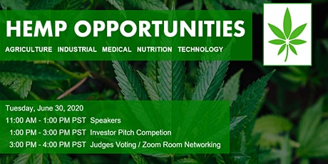 Hemp Opportunities Speaker & Investor Pitch Competition tickets
