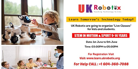 STEM in Motion & Sport (For 9-14 Years Kids) tickets