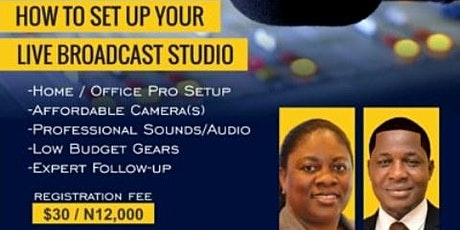 How to set up your home/office studio tickets