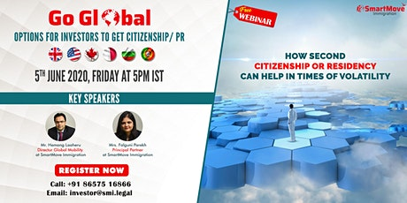 FREE Webinar - Second Citizenship | PR options - Investors, Businesses, HNI biglietti