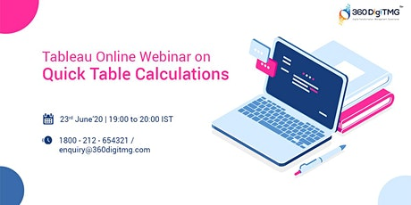 Tableau Webinar (Free)| Quick Table Calculations tickets