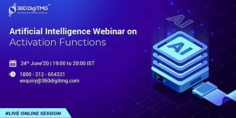 AI Free Webinar | Activation Functions tickets
