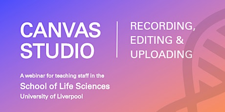 Canvas Studio | Recording, editing and uploading tickets