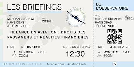 Briefing #2 Relance en aviation, droit des passagers, réalités financières billets
