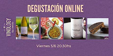 DEGUSTACIÓN ONLINE DE VINOS Y CENA!! entradas