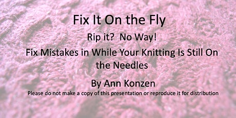 Fix It On the Fly tickets