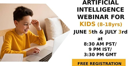 Artificial Intelligence  (AI) Webinar for Kids and Teens (8-18 years) tickets
