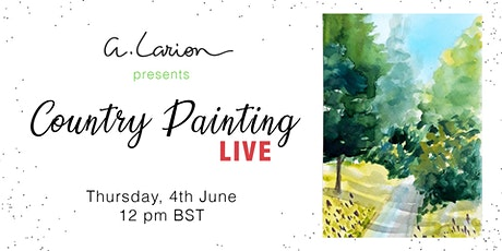 Country Painting LIVE - Watercolour Painting Tutorial - Path with bluebells tickets