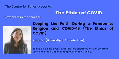 Anna Su, Keeping the Faith During a Pandemic: Religion and COVID-19 tickets
