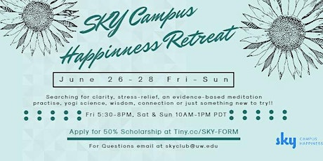 SKY Campus Happiness Retreat Online tickets