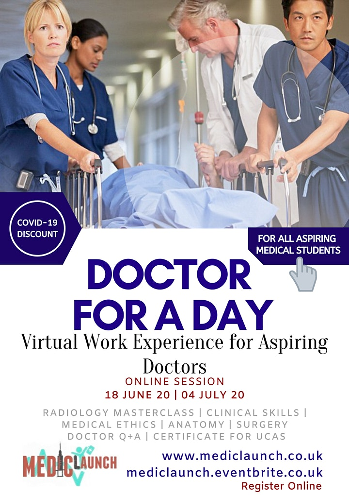 Doctor for a Day – Virtual Work Experience For Aspiring Medics image