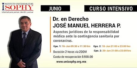 Aspectos jurídicos de la responsabilidad médica ante la contingencia sanitaria por coronavirus. entradas