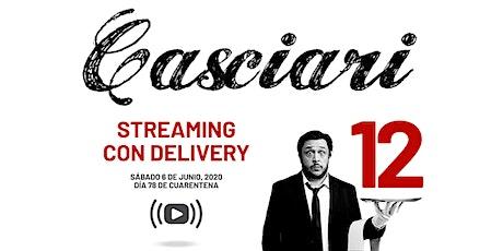 HERNÁN CASCIARI: «Streaming con Delivery» — SÁBADO 6 JUNIO entradas
