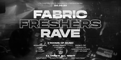 2020 FRESHERS RAVE AT FABRIC tickets