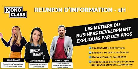 Devenez Business Developer en environnement digital - Présentation Métier billets