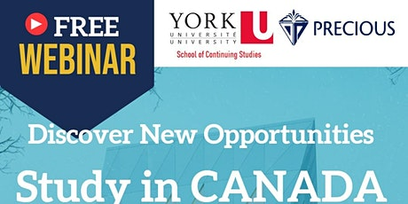 Information Webinar - Study & Settle in Canada tickets