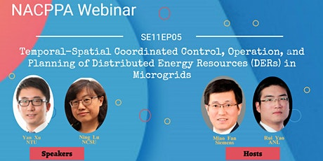 Spatiotemporal Coordinated Control/Operation/Planning of DERs in  Microgrid tickets