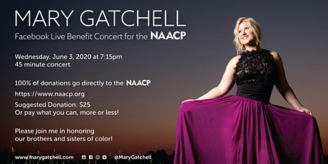 Mary Gatchell Facebook Live for Naacp! Wed. 7:15pm tickets