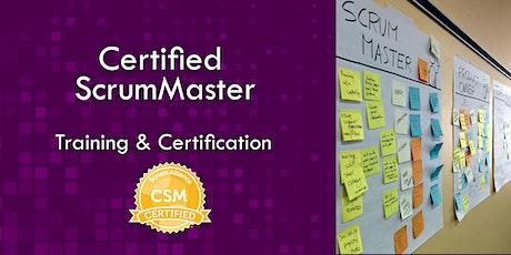Certified Scrum Master CSM class  (virtual, live, no slides) tickets