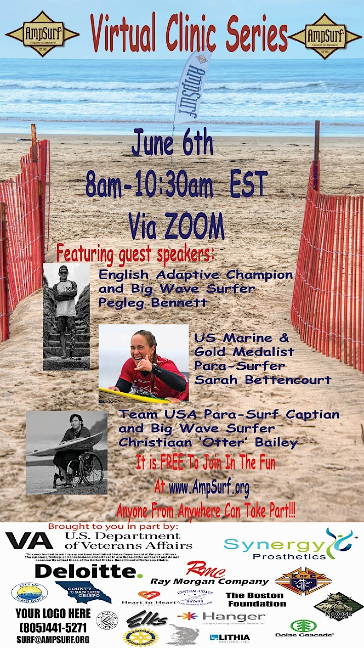 AMPSURF Learn to Surf Clinic - VIRTUAL EVENT image