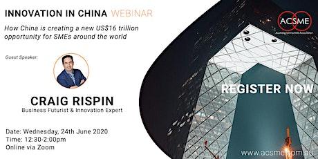 Innovation in China Webinar tickets