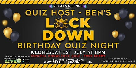 Ben's Lockdown Birthday Quiz tickets