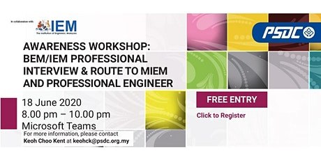 BEM/IEM Professional Interview & Route to MIEM and Professional Engineer tickets