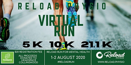 Reload Physio Virtual Run tickets