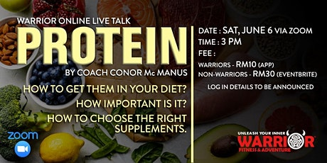 Warrior Online LIVE Talk : PROTEIN tickets