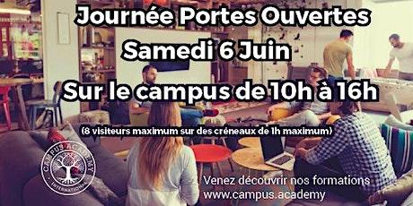 Journée Portes Ouvertes sur le campus - Samedi 6 Juin de 10h à 16h billets