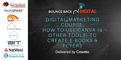 Bounce Back Digital Series: How to Use Canva to Create E-Books & Flyers tickets
