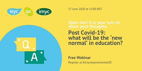 Post Covid-19: what will be the 'new normal' in education? tickets
