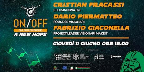 On/Off for Entrepreneurs | Isinnova e Visionari Makeit biglietti