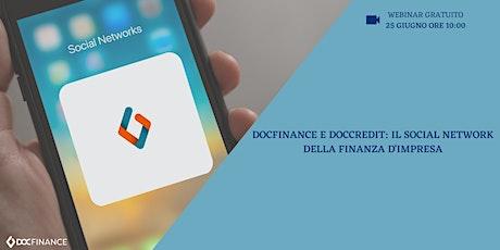 DocFinance e DocCredit: il social network della finanza d'impresa biglietti