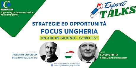 Export Talks - Focus UNGHERIA biglietti
