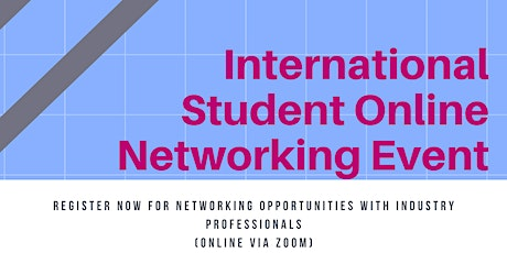 International Student Online Networking Event tickets