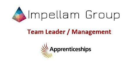 Team Leader / Management Apprenticeships - Project Management Part 1 billets