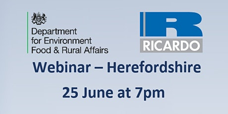 Future Farming Resilience Fund - webinar for participants in Herefordshire tickets