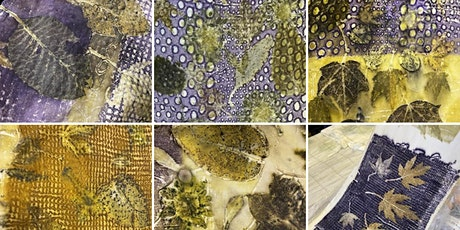 Create textured background for your Ecoprints, online workshop tickets