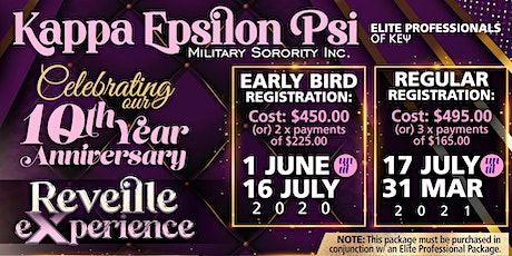 KAPPA EPSILON PSI MILITARY SORORITY, INC - REVEILLE eXperience 2021 tickets