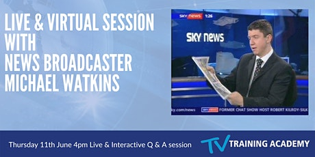 TV Presenter Training - Live & Interactive Session with News Broadcaster... billets