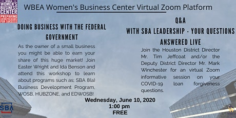 Doing Business With The Federal Government tickets